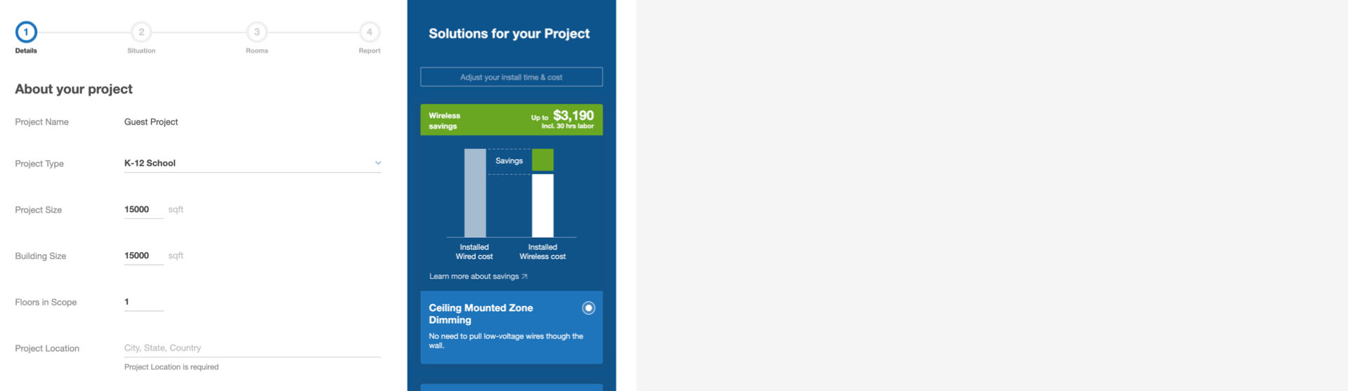Estimate projects